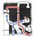 Дровяная водогрейная колонка душ КВС 10 Ермак (из нержавейки)